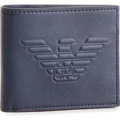 Duży Portfel Męski EMPORIO ARMANI - Y4R167 YG90J 80033 Blu Navy. Niebieskie portfele męskie Emporio Armani, ze skóry ekologicznej. Za 389,00 zł.