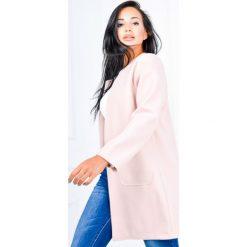 Płaszcze damskie: Płaszcz a'la żakiet z flauszu