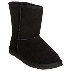 Skórzane botki w kolorze czarnym. Czarne buty zimowe damskie Carla Samuel, na zimę. W wyprzedaży za 199,95 zł.