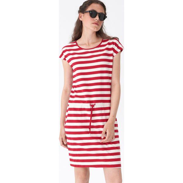 2d57591c9e Sukienka wiązana w talii - Paski - Szare sukienki damskie House