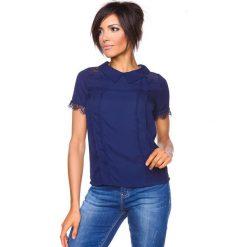 """T-shirty damskie: Koszulka """"Pascale"""" w kolorze granatowym"""