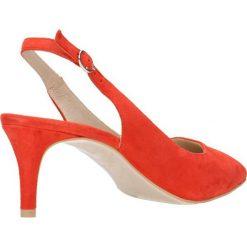 Czółenka RUMI. Czerwone buty ślubne damskie marki Gino Rossi, w paski, ze skóry, na szpilce. Za 169,90 zł.
