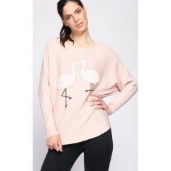Jasnoróżowy Sweter Withstand. Czerwone swetry klasyczne damskie Born2be, l. Za 49,99 zł.