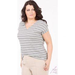 Bluzki asymetryczne: Bluzka w prążki Plus