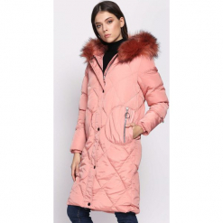 Ciemnoróżowa Kurtka Thesis. Różowe kurtki damskie pikowane Born2be, na zimę, l, z kapturem. Za 199,99 zł.
