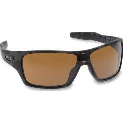 Okulary przeciwsłoneczne OAKLEY - Turbine Rotor OO9307-1732 Olive Camo/Prizm Tungsten. Czarne okulary przeciwsłoneczne męskie aviatory Oakley, z tworzywa sztucznego. W wyprzedaży za 549,00 zł.