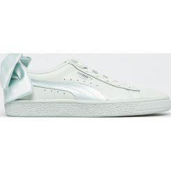 Puma - Buty Basket Bow. Szare buty sportowe damskie marki Puma, z gumy. W wyprzedaży za 299,90 zł.