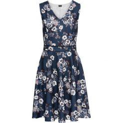 Sukienki: Sukienka z dżerseju bonprix ciemnoniebieski w kwiaty
