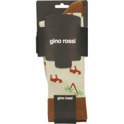 Skarpety unisex. Szare skarpetki męskie marki Gino Rossi, z bawełny. Za 19,90 zł.