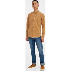 Koszule męskie: Musztardowa koszula jeansowa