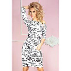 Sukienki: Cher Sukienka sportowa - gazetowe napisy + biały