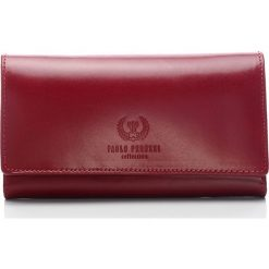 Czerwony Ekskluzywny portfel damski Paolo Peruzzi. Czerwone portfele damskie Paolo Peruzzi, ze skóry. Za 169,00 zł.