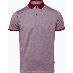 Calvin Klein - Męska koszulka polo, czerwony. Pomarańczowe koszulki polo marki Calvin Klein, l, z bawełny, z okrągłym kołnierzem. Za 349,95 zł.