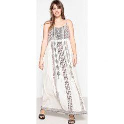 Długie sukienki: Długa sukienka z cienkimi ramiączkami, etniczny nadruk