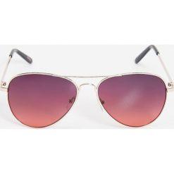 Okulary przeciwsłoneczne damskie aviatory: Okulary przeciwsłoneczne – Bordowy