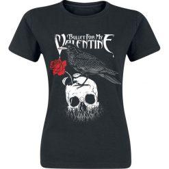 Bullet For My Valentine Raven Koszulka damska czarny. Czarne bluzki z odkrytymi ramionami marki Bullet For My Valentine, l, z nadrukiem, z okrągłym kołnierzem. Za 74,90 zł.