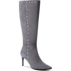 Kozaki EVA MINGE - Mejorada 4S 18SF1372603EF  809. Szare buty zimowe damskie Eva Minge, ze skóry, na obcasie. Za 819,00 zł.