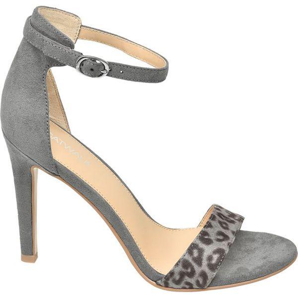 1c21e9f6a8c2b4 sandały na obcasie Catwalk popielate - Szare sandały damskie Catwalk ...