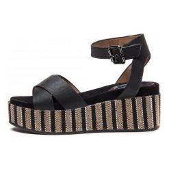 Wrangler Sandały Damskie Tempura Straw Cross 39 Czarny. Czarne sandały damskie marki Wrangler. W wyprzedaży za 189,00 zł.