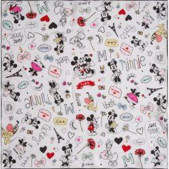 """Chusty damskie: Chusta """"Micki and Minni"""" w kolorze białym ze wzorem – 53 x 53 cm"""