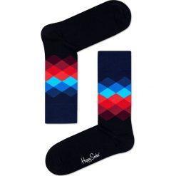 Happy Socks - Skarpety Faded Diamond. Czarne skarpetki męskie Happy Socks, z bawełny. Za 34,90 zł.