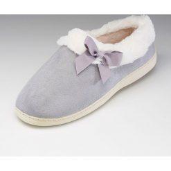 Kapcie damskie: Pantofle domowe z materiału tekstylnego, ocieplane, lekkie i miękkie
