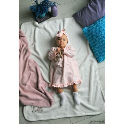 Sukienki niemowlęce: Sukienka pudrowy róż MY HEARTS (bez opaski)