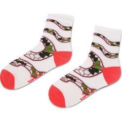 Skarpety Wysokie Damskie FREAK FEET - LWAZ-WHP Biały Kolorowy. Białe skarpetki damskie Freak Feet, w kolorowe wzory, z bawełny. Za 19,99 zł.