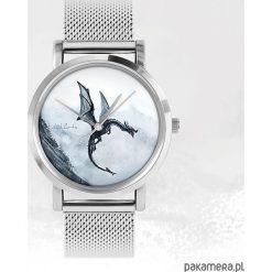 Zegarek - Czarny smok - metalowy. Czarne zegarki męskie marki Pakamera, metalowe. Za 139,00 zł.