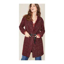 Płaszcz damski. Brązowe płaszcze damskie pastelowe Promod, na zimę, z jeansu, eleganckie. Za 209,50 zł.