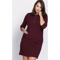 Bordowa Sukienka Got Spirit. Czerwone sukienki hiszpanki Born2be, xl, midi, oversize. Za 69,99 zł.