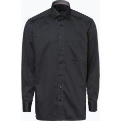 OLYMP Luxor comfort fit - Koszula męska niewymagająca prasowania, czarny. Czarne koszule męskie na spinki marki OLYMP Luxor comfort fit, m, z materiału, z klasycznym kołnierzykiem. Za 199,95 zł.