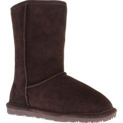 """Skórzane kozaki """"Ethel"""" w kolorze ciemnobrązowym. Szare buty zimowe damskie marki Marco Tozzi. W wyprzedaży za 236,95 zł."""