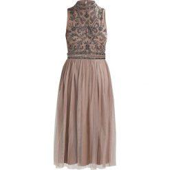 Lace & Beads NIGELLA MIDI Sukienka koktajlowa taupe. Szare sukienki koktajlowe marki Lace & Beads, z materiału, midi. Za 419,00 zł.
