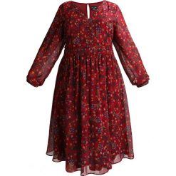 Długie sukienki: City Chic DRESS WINTER FOLK Długa sukienka dark red