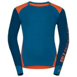 Odlo Koszulka męska Shirt l/s crew neck WARM Revelstoke niebieska r. XXL (150652). Niebieskie koszulki sportowe męskie Odlo, l. Za 199,95 zł.