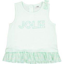 Bluzki dziewczęce bawełniane: Koszulka na ramiączkach z falbankami i kokardką 1 miesiąc - 3 lata