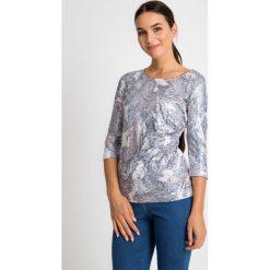 Bluzki damskie: Błyszcząca bluzka z bocznym marszczeniem QUIOSQUE