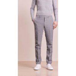 Chinosy męskie: 120% Lino PANTALONE UOMO Spodnie materiałowe smoke grey
