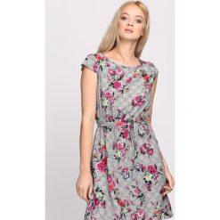 Sukienki: Szaro-Fioletowa Sukienka Darkness