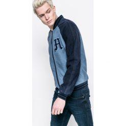 Tommy Jeans - Kurtka bomber skórzana. Szare kurtki męskie bomber marki Tommy Jeans, l, z bawełny. W wyprzedaży za 799,90 zł.