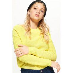 Lekki sweter o drobnym splocie - Zielony. Brązowe swetry klasyczne damskie marki DOMYOS, xs, z bawełny. Za 49,99 zł.