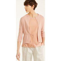Swetry damskie: Kardigan w kolorze brzoskwiniowym