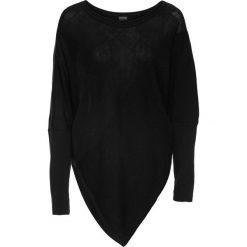 Swetry klasyczne damskie: Sweter z asymetryczną linią dołu bonprix czarny