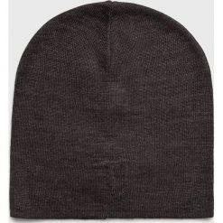 Trussardi Jeans - Czapka. Czarne czapki zimowe męskie Trussardi Jeans, z dzianiny. Za 169,90 zł.