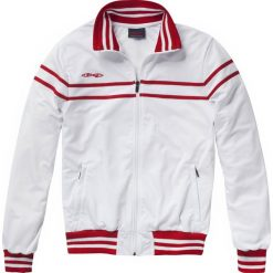 Kurtki sportowe męskie: Stag Comfort szkolenia kurtka – Mężczyźni – biały / red_s