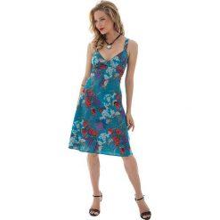 Sukienki: Sukienka w kolorze turkusowo-czerwonym