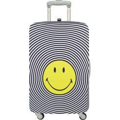 Pokrowiec na walizkę LOQI Smiley. Szare walizki LOQI, z elastanu. Za 123,00 zł.
