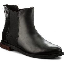 Sztyblety KARINO - 1842/076-F  Czarny. Fioletowe buty zimowe damskie marki Karino, ze skóry. W wyprzedaży za 189,00 zł.