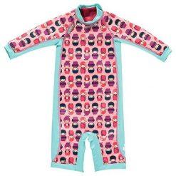 Kombinezony dziewczęce: Ocieplany kombinezon w kolorze błękitno-różowym do pływania